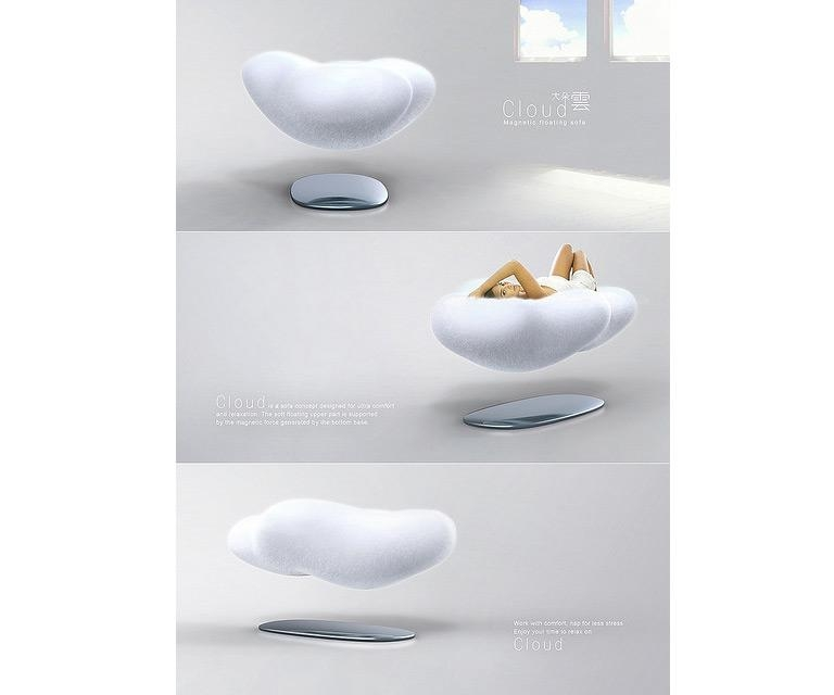 Cloud Levitating Sofa | Dudeiwantthat Throughout Floating Cloud Couches (Image 5 of 20)
