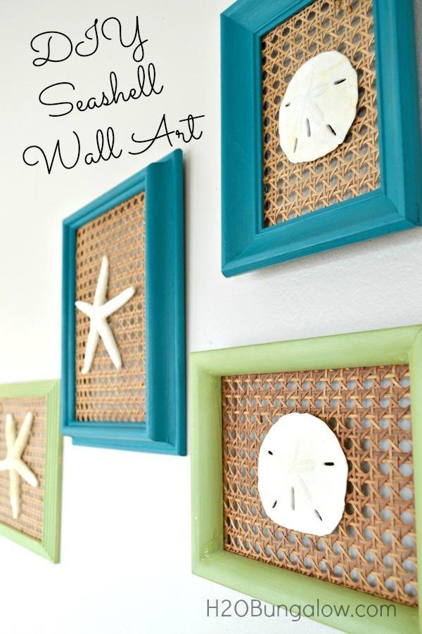 Coastal Seashell Wall Art For Wall Art With Seashells (Image 14 of 20)