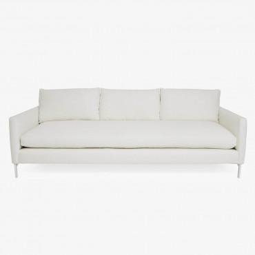 Cobble Hill White Powder Coat Sofa – Abc Carpet & Home With Cobble Hill Sofas (Image 18 of 20)