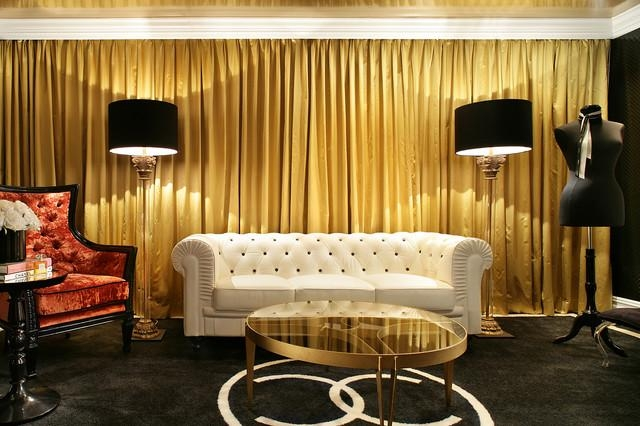 Coco Chanel Sitting Room – Contemporary – Living Room – New York Pertaining To Coco Chanel Sofas (View 13 of 20)