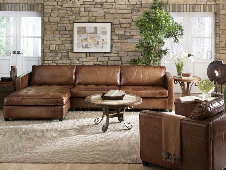 Collection In Leather Sofa With Chaise With Traditional Leather Throughout Traditional Leather Sectional Sofas (Image 6 of 20)