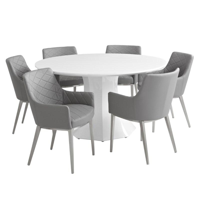 Collection In Round White Gloss Dining Table Kitchen Table And 6 Inside Best And Newest Round High Gloss Dining Tables (View 6 of 20)