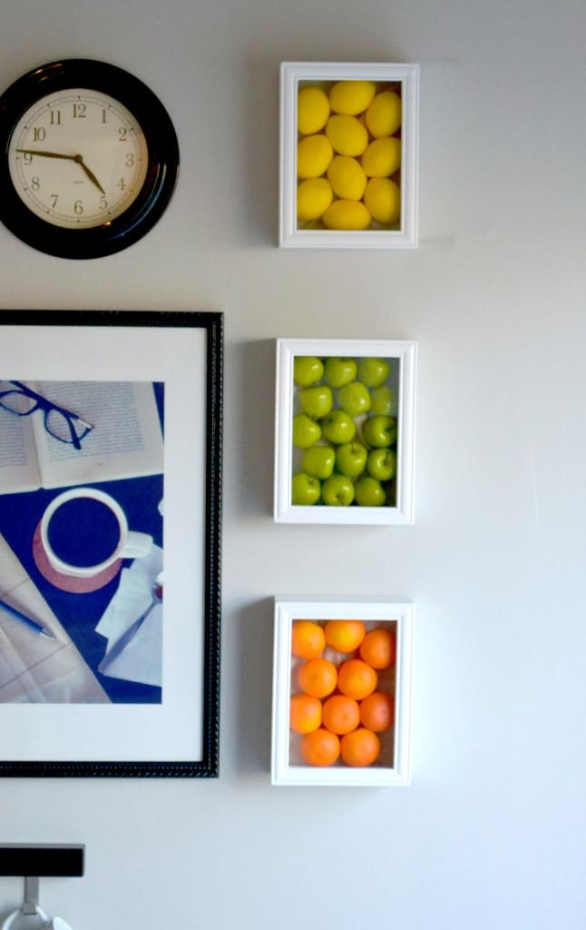 Colorful Kitchen Wall Art With Fake Fruits With Regard To Wall Art For The Kitchen (Image 12 of 20)