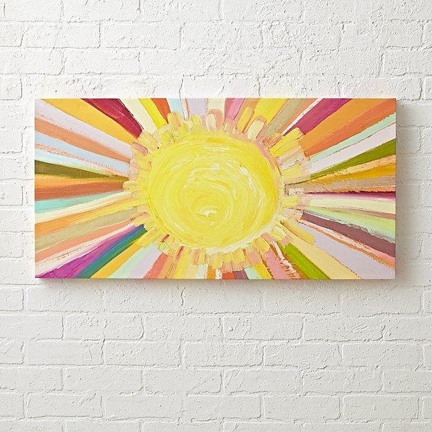 Colorful Sunshine Painting | The Land Of Nod In Land Of Nod Wall Art (Image 7 of 20)