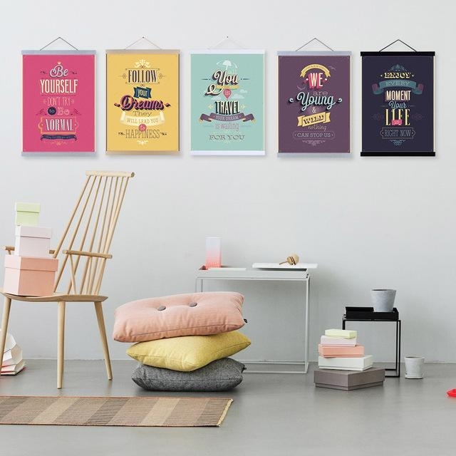 Colorful Youth Modern Inspirational Quotes Hippie Typography Regarding Typography Canvas Wall Art (View 20 of 20)