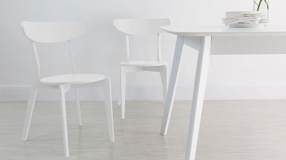 Colourful Kitchen Chairs | Bright Painted Wood Only £45 | Uk In Latest White Dining Chairs (Image 8 of 20)
