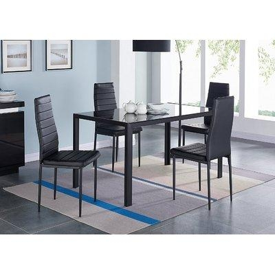 Compact 5 Piece Dining Set & Reviews | Allmodern Inside Compact Dining Sets (Image 9 of 20)