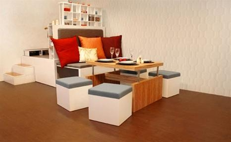 Compact Dining Room Furniture Set – Plushemisphere Inside Best And Newest Compact Dining Room Sets (Image 9 of 20)
