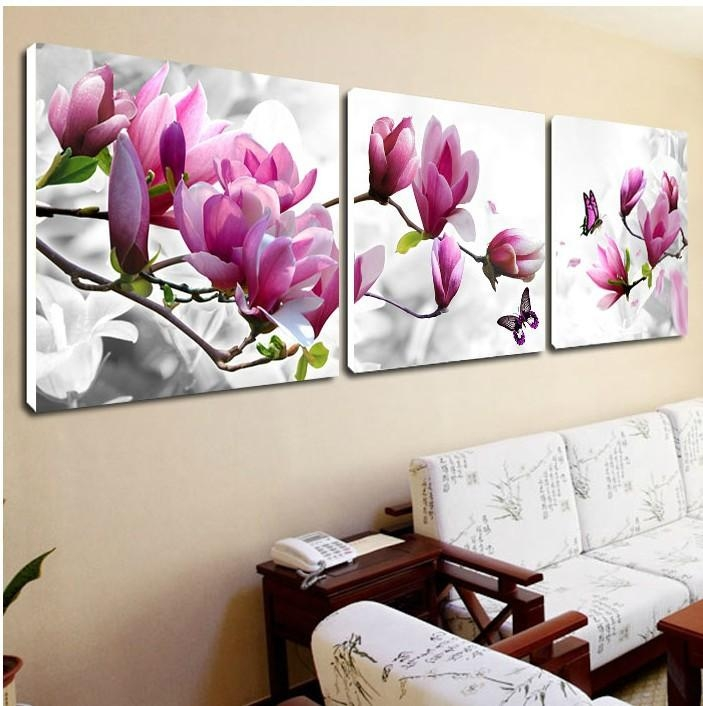 Compare Prices On 3 Piece Canvas Floral Wall Art Online Shopping With Regard To 3 Piece Floral Wall Art (View 5 of 20)