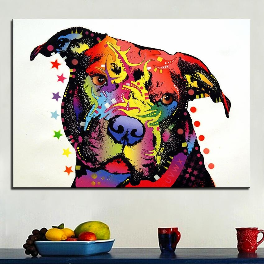Compare Prices On Pitbull Wall Art Online Shopping/buy Low Price With Regard To Pitbull Wall Art (View 12 of 20)