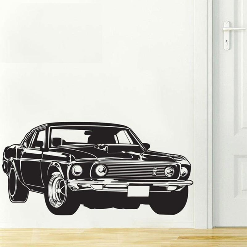 Compare Prices On Shelby Decal  Online Shopping/buy Low Price Throughout Ford Mustang Metal Wall Art (Image 8 of 20)