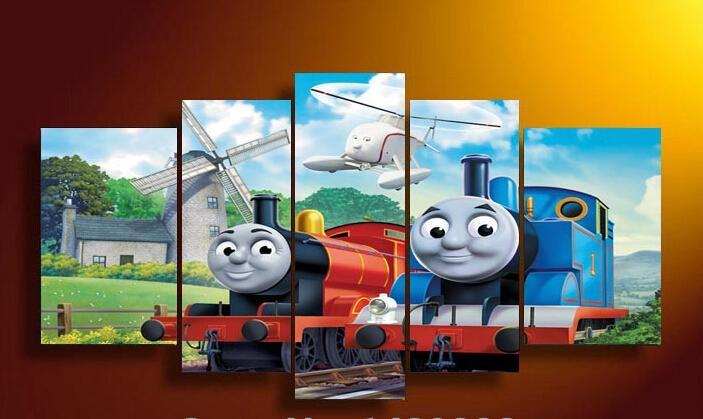 Compare Prices On Thomas Train Art  Online Shopping/buy Low Price Intended For Thomas The Tank Wall Art (Image 2 of 20)