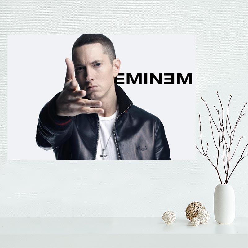 Compare Prices On Wall Poster Eminem  Online Shopping/buy Low Throughout Eminem Wall Art (Image 7 of 20)