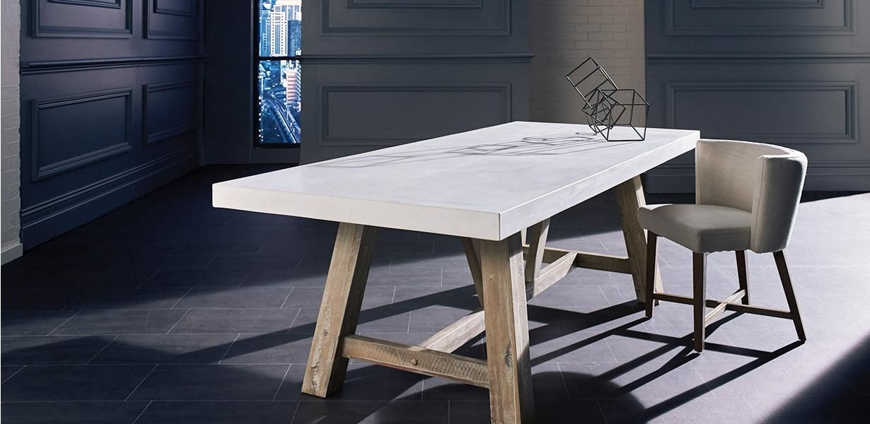 Concrete Dining Table Chairs – All About Concrete Dining Table Intended For Most Current Perth Dining Tables (Image 2 of 20)