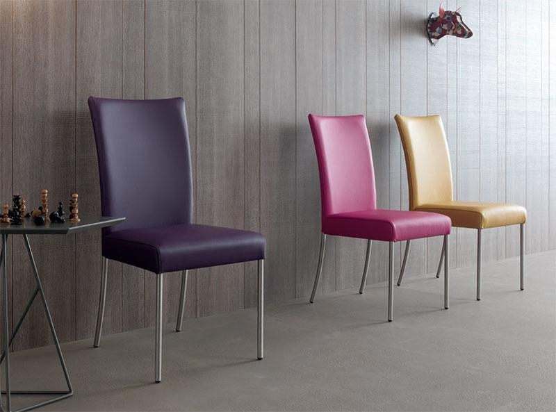 Contemporary Compar July Dining Chair Leather Or Faux Leather Intended For Current Purple Faux Leather Dining Chairs (Image 6 of 20)