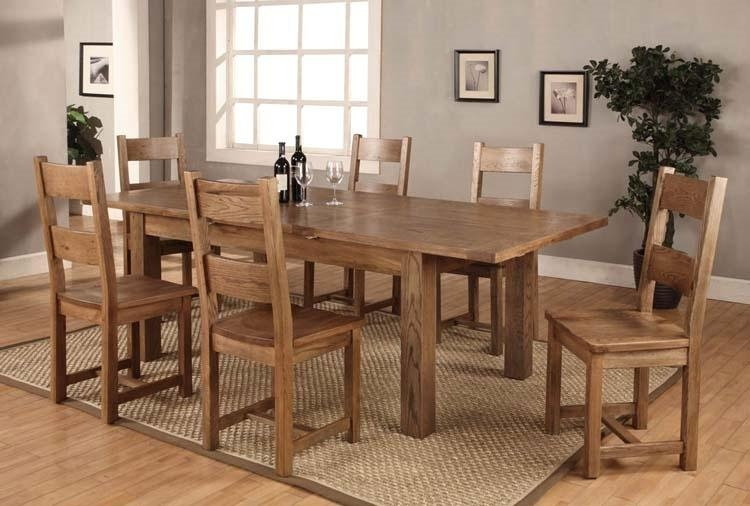 Contemporary Design Expandable Dining Table Set Plush Extending Throughout Most Recently Released Light Oak Dining Tables And 6 Chairs (Image 4 of 20)