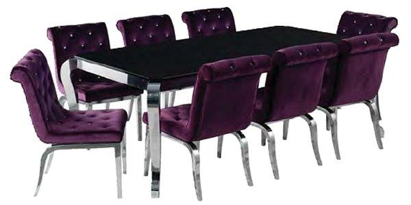 Contemporary Dining Furniture Within Most Recently Released Dining Tables And Purple Chairs (View 4 of 20)
