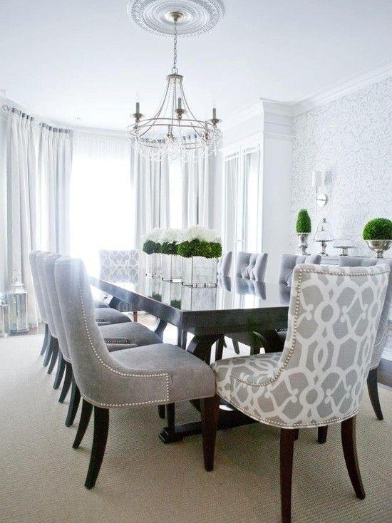 Contemporary Dining Room — Love The Patterned Chairs For The Head Pertaining To Most Recent Contemporary Dining Room Tables And Chairs (Image 9 of 20)