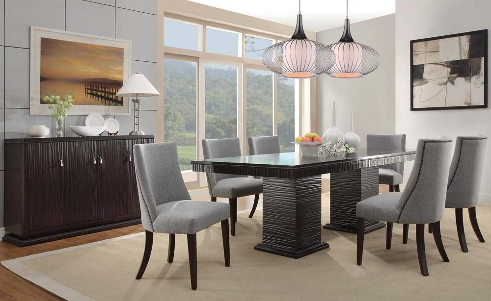 Contemporary Dining Room Table Regarding Most Recent Modern Dining Room Furniture (Image 10 of 20)