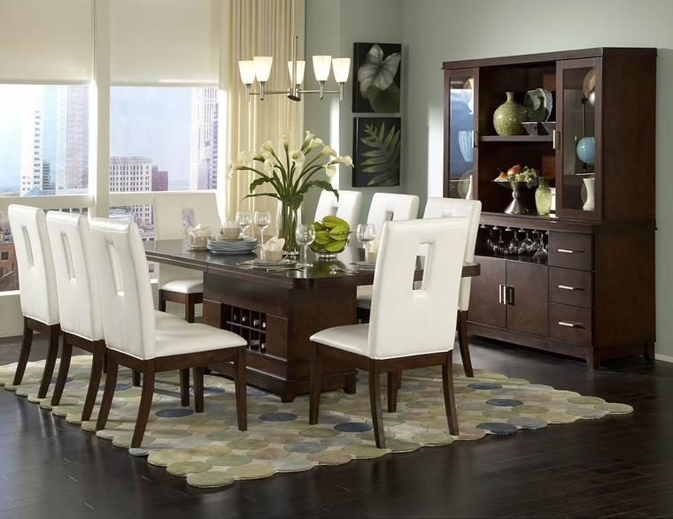 Contemporary Dining Sets White Cushion On Wooden Shair – Online With Regard To Most Recently Released Contemporary Dining Room Tables And Chairs (Image 12 of 20)
