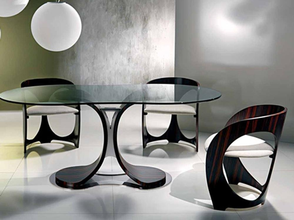 Contemporary Dining Table #551 | Latest Decoration Ideas Within Newest Contemporary Dining Furniture (Image 8 of 20)