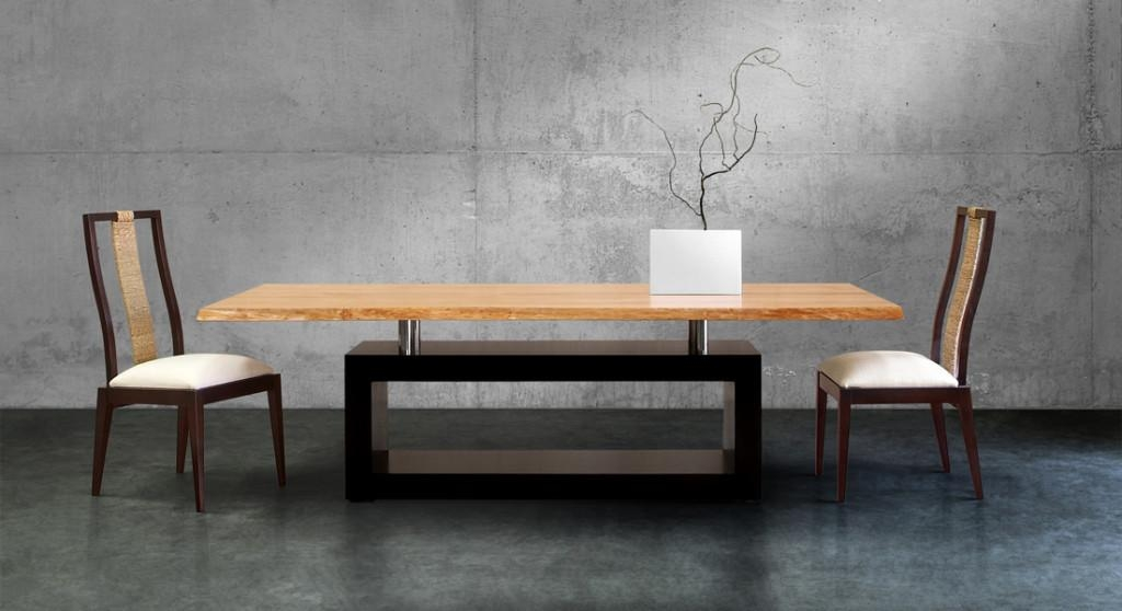 Contemporary Dining Table Design | Table Saw Hq Inside Most Current Modern Dining Tables (Image 10 of 20)
