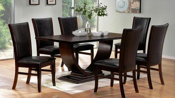 Contemporary Dining Table Sets Decor Online Meeting Rooms Within With 2018 Contemporary Dining Room Tables And Chairs (Image 13 of 20)