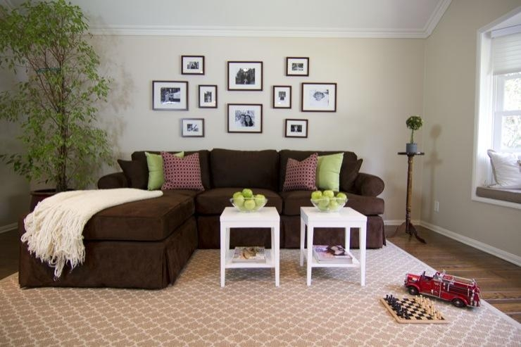 Contemporary Furniture Simple Brown Sofa Decor | Hampedia For Brown Sofas Decorating (Image 10 of 20)