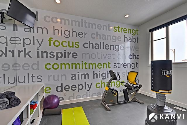 Contemporary Home Gym With Wall Art For Home Gym (Image 10 of 20)