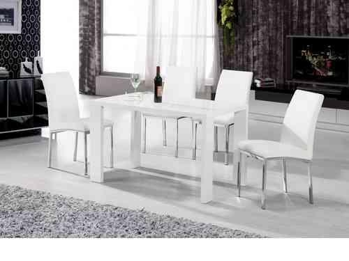 Contemporary Ideas High Gloss Dining Table Charming White High Pertaining To Recent High Gloss Dining Room Furniture (Image 5 of 20)
