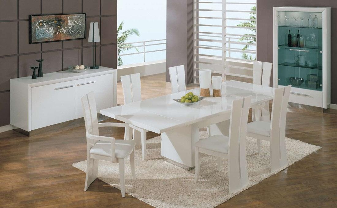 Contemporary Ideas White Dining Room Sets Pretty Table White With Regard To White Dining Sets (Image 9 of 20)