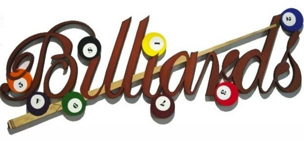 Contemporary Wall Sculptures Billiard Wall Decor Amazing Billiard Throughout Billiard Wall Art (View 2 of 20)