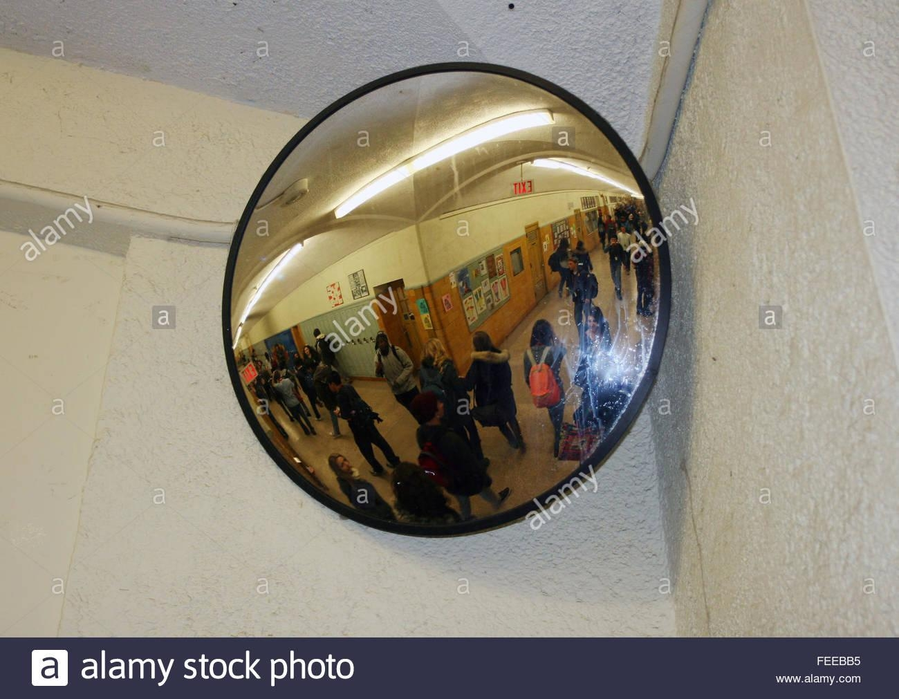 Convex Mirror Security Stock Photos & Convex Mirror Security Stock Inside Hallway Safety Mirrors (Image 4 of 20)