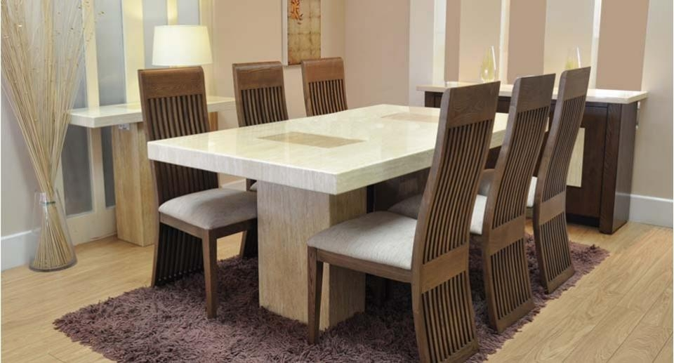 Cool Best Dining Room Tables With Dining Table And Six Chairs In Best And Newest Dining Tables Chairs (Image 8 of 20)