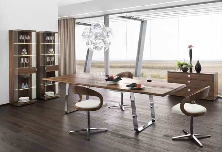 Cool Dining Room Furniture With Modern Dining Table Sustainable Pertaining To Latest Chrome Dining Room Sets (View 13 of 20)