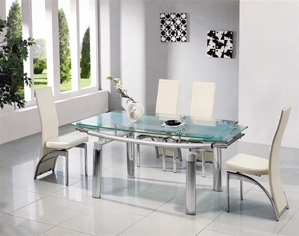 Cool Glass Extendable Dining Table And 6 Chairs 79 For Dining Room With Regard To Most Up To Date Glass Extendable Dining Tables And 6 Chairs (View 16 of 20)