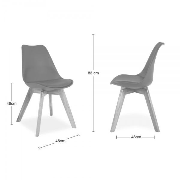 Cool Grey Dining Chair With Solid Oak Crossed Wood Legs | Cult Intended For Most Recent Grey Dining Chairs (View 16 of 20)