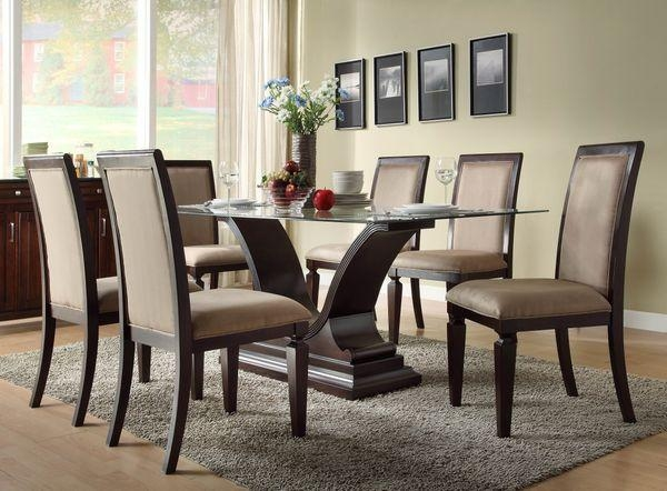 Cool Round Glass Dining Room Table With Glass Dining Room Sets Within Most Recently Released Oak And Glass Dining Tables Sets (Image 8 of 20)