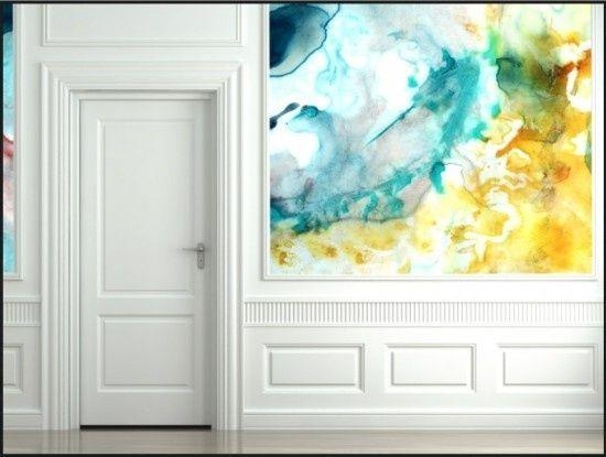 Coolest 25 Watercolor Wall Designs Throughout Diy Watercolor Wall Art (Image 5 of 20)