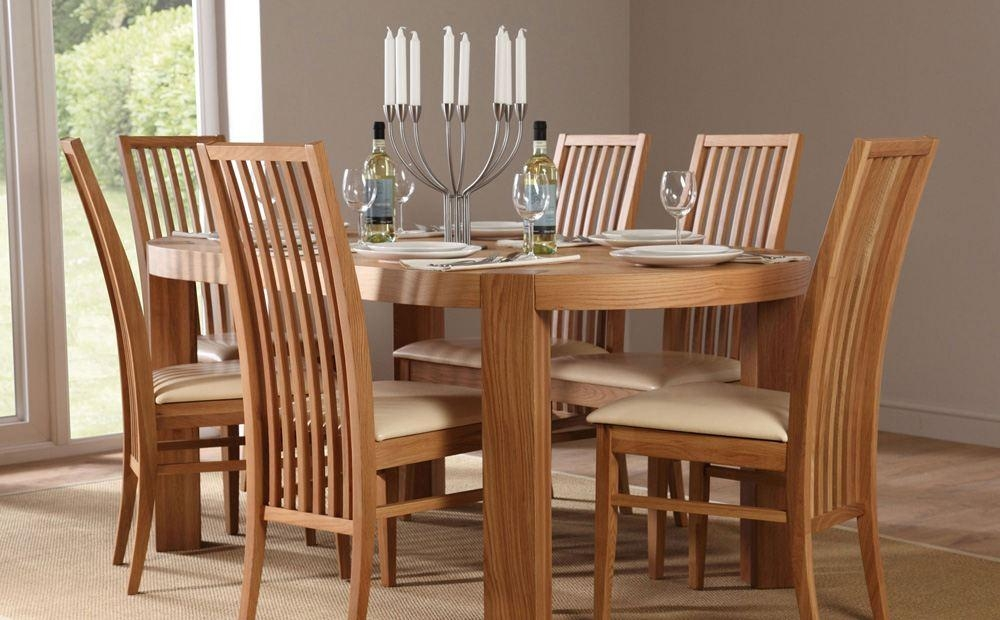 Country Oak Dining Room Sets – Solid Oak Dining Room Sets – Home Intended For Current Oak Dining Tables And Chairs (Image 3 of 20)