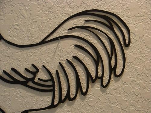 Country Rooster Metal Wall Art | Metalheadartdesign Artfire Gallery With Regard To Metal Rooster Wall Art (View 8 of 20)