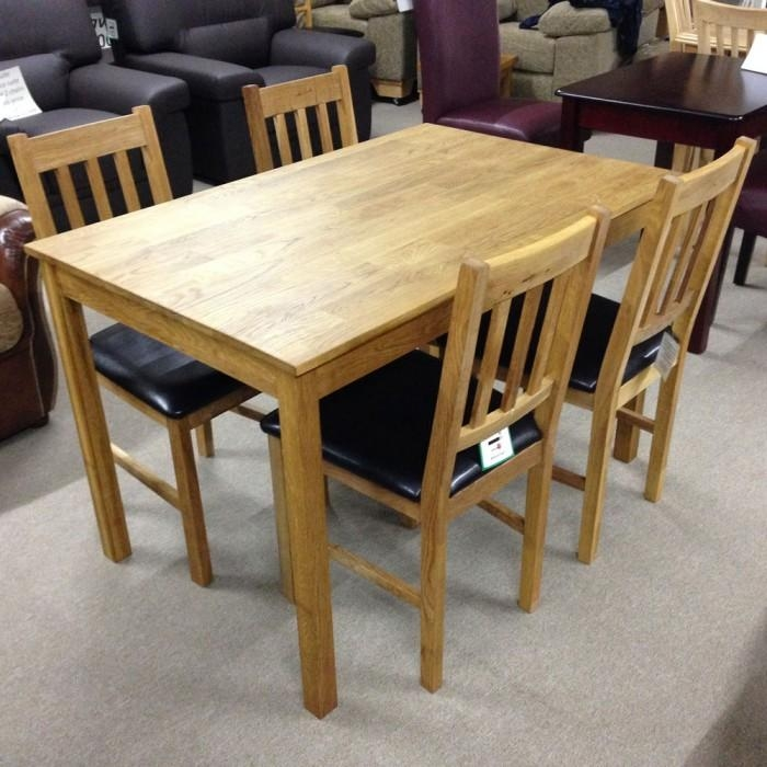 Coxmoor Solid Oak Dining Table With 4 Chairs – Flintshire, Chester Throughout Best And Newest Chester Dining Chairs (Image 12 of 20)