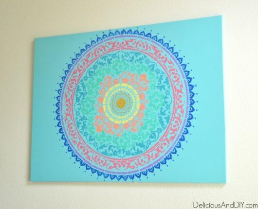 Craft Boho Chic Wall Art Using Mandala Stencils « Stencil Stories For Boho Chic Wall Art (Image 12 of 20)