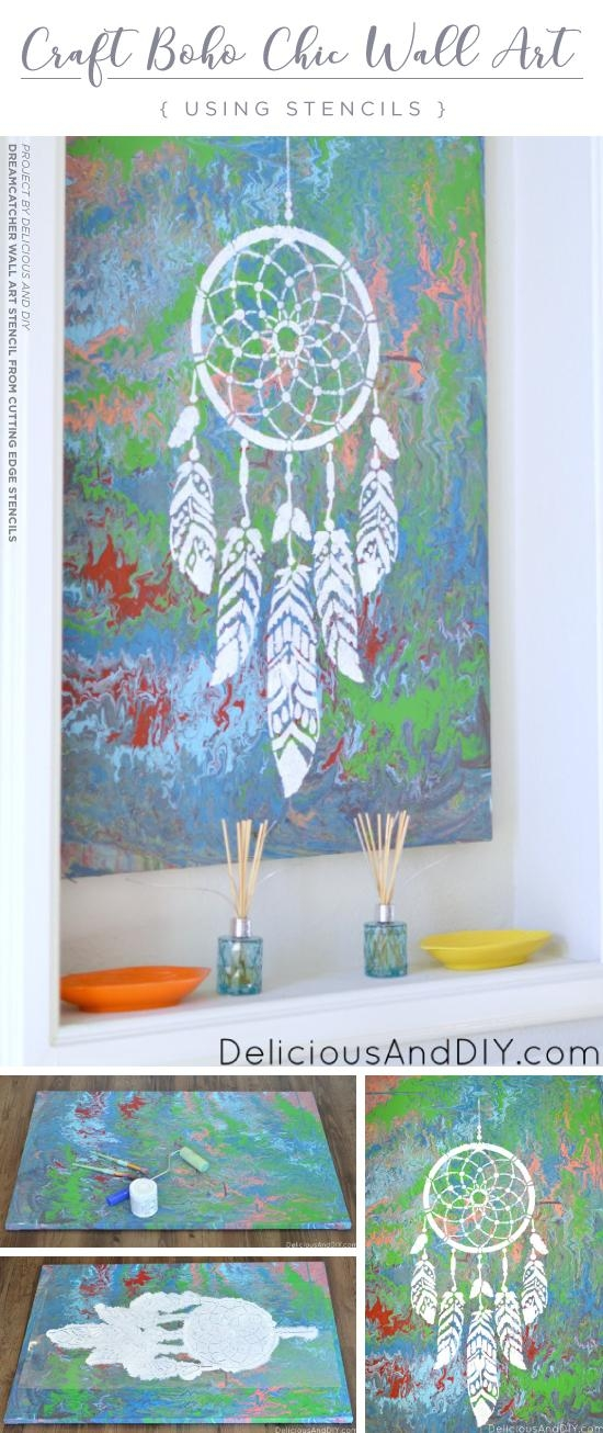 Craft Boho Chic Wall Art Using Stencils « Stencil Stories Pertaining To Boho Chic Wall Art (View 19 of 20)