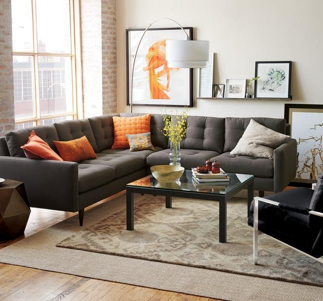 Crate And Barrel Living In Gray Sofas For Living Room (View 19 of 20)