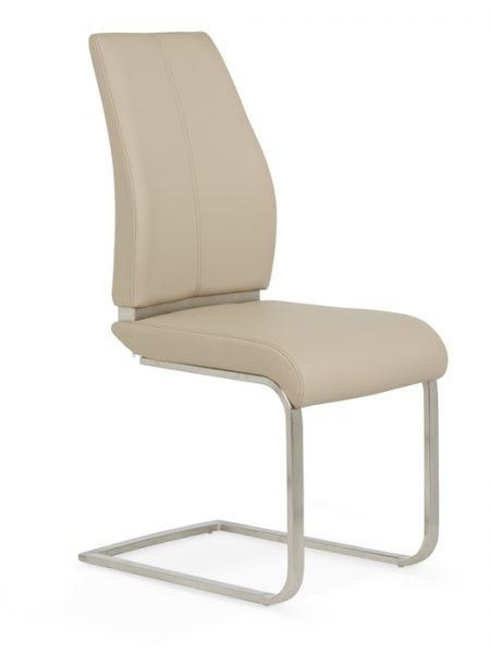 Cream Dining Chairs | Neautral Fabric Dining Chairs Within Most Up To Date Cream Faux Leather Dining Chairs (View 6 of 20)