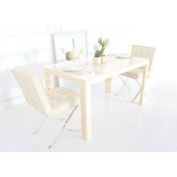 Cream High Gloss Dining Sets (Image 4 of 20)