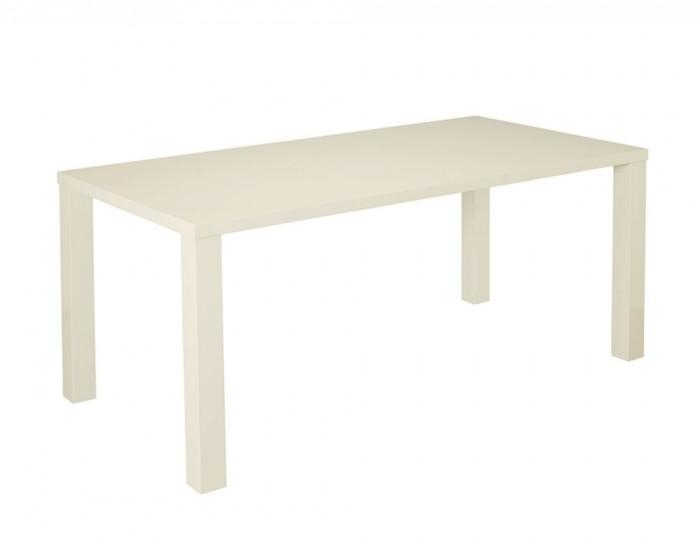 Cream High Gloss Large Dining Table Intended For Most Up To Date Cream High Gloss Dining Tables (Image 6 of 20)