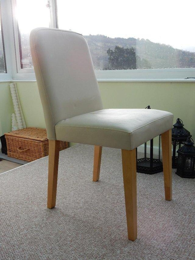 Cream Leather Dining Chairs – Second Hand Household Furniture, Buy With Regard To Newest Cream Faux Leather Dining Chairs (View 17 of 20)