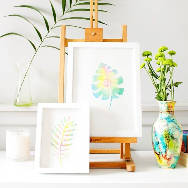 Create This Anthropologie Watercolor Wall Art For Half The Price For Diy Watercolor Wall Art (Image 6 of 20)